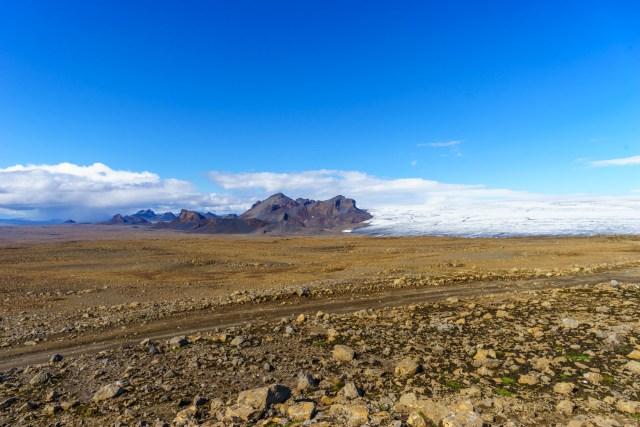 Gletscher, Vulkane - Hochland