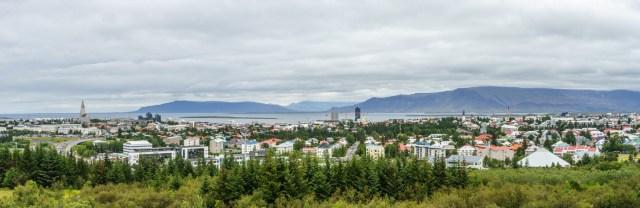 Reykjavik vom Perlan fotografiert
