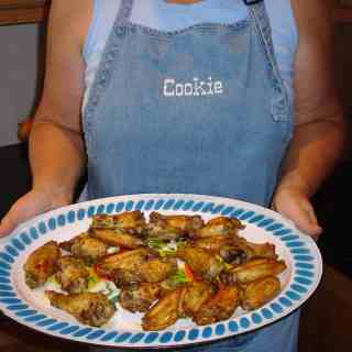 """""""A Chicken in Every Pot"""" (recipe:  Oven Roasted Chicken Wings)"""