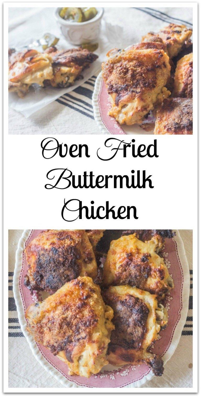 Oven Fried Buttermilk Chicken