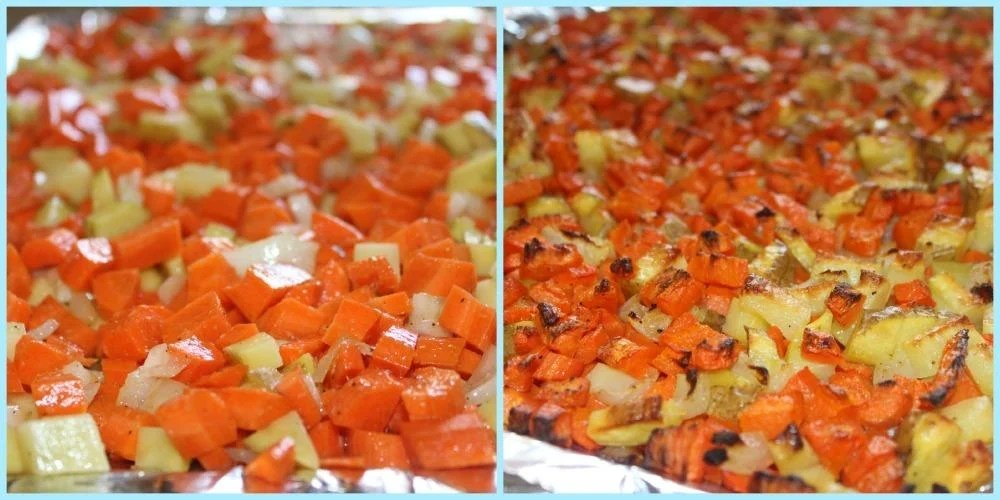 roasted carrots collage ~ Syrup and Biscuits