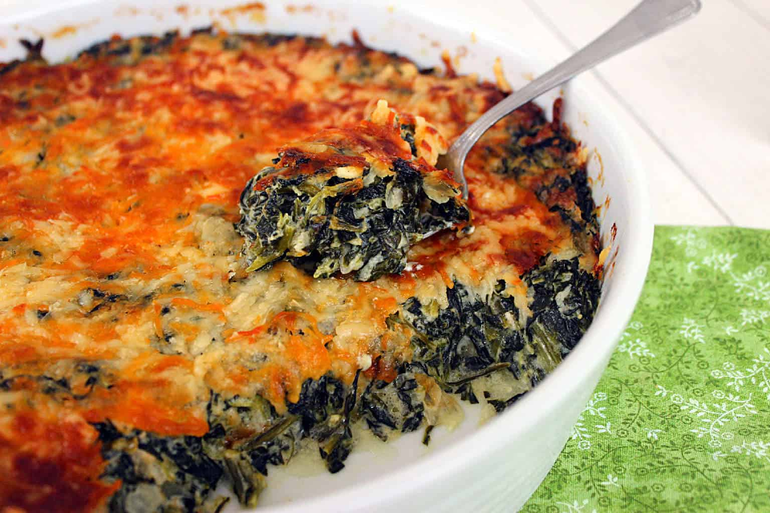 Popeye's Vegetable(Recipe:Cheesy Creamed Spinach Casserole)