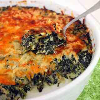 Popeye's Vegetable(Recipe:Cheesy Creamed Spinach Casserole)