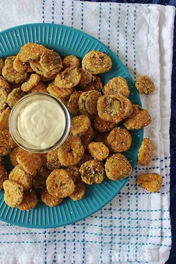 Fried Dill Pickles with Ranch Dressing ~ Syrup and Biscuits