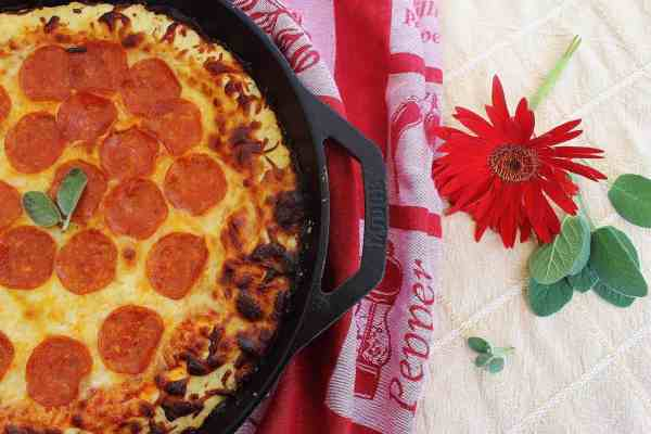 Skillet Pepperoni Biscuit Pizza