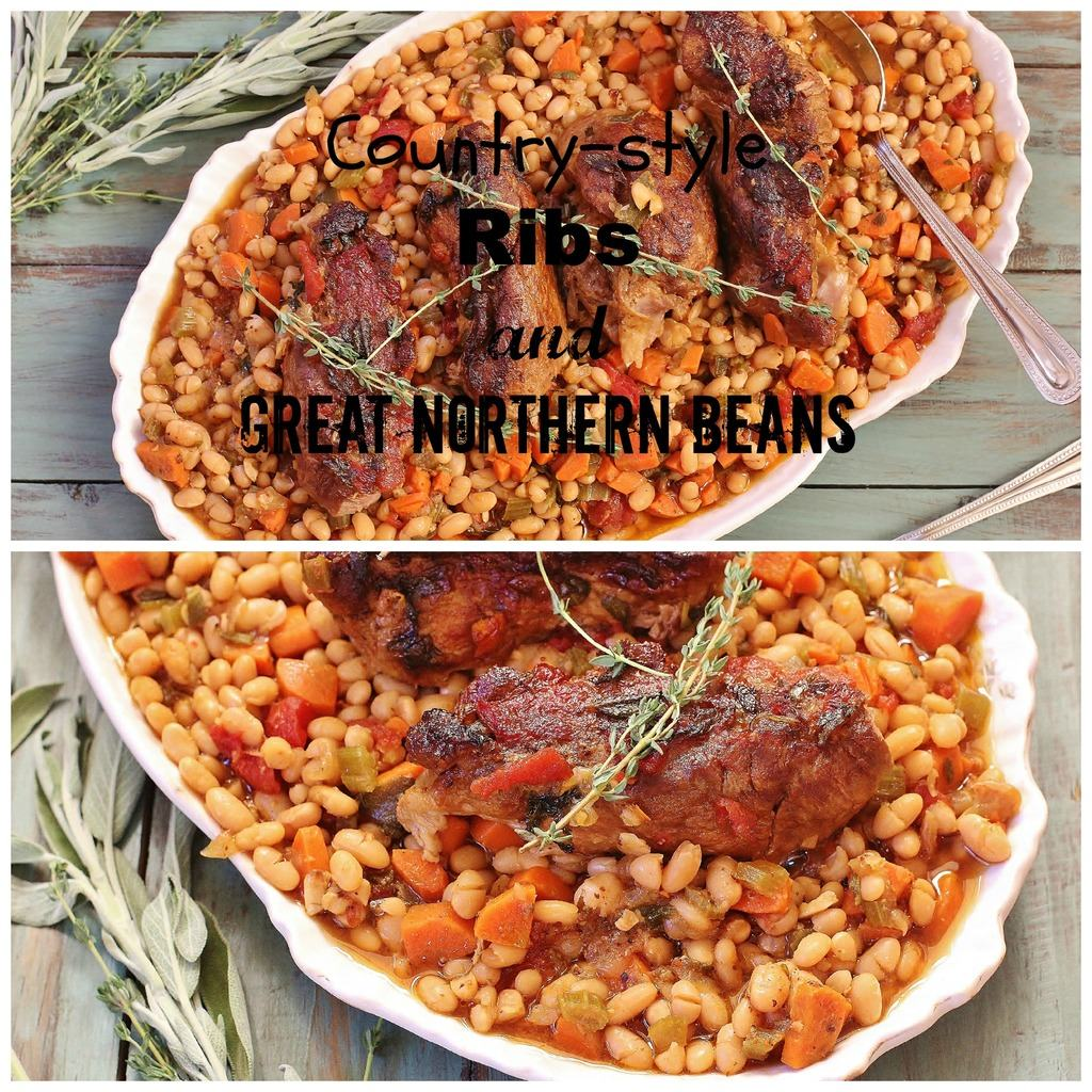 Country-style Ribs and Great Northern Beans