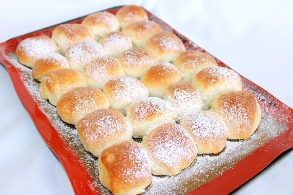 Authentic School House Rolls. Authentic recipe prepared by school lunchroom ladies.