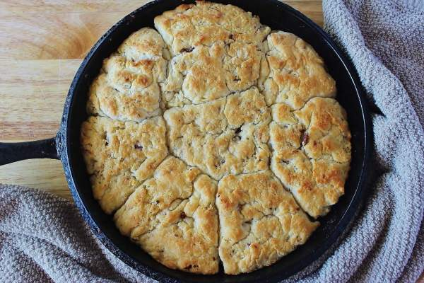 """Bacon Cathead Biscuits from """"BISCUITS: Sweet and Savory Southern Recipes for the All-American Kitchen by Jackie Garvin"""