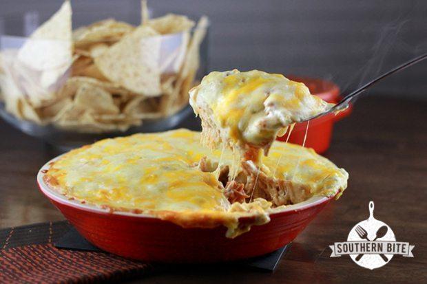 Sour-Cream-Chicken-Enchilada-Pie