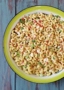 Old Fashioned Macaroni Salad. The forerunner of modern pasta salads. Creamy, cool, sweet and tart. Full of flavor and nostalgia.