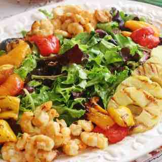 Grilled Shrimp and Fruit Salad and a Summer Luncheon