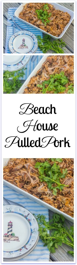 """Slow-cooker Beach House Pulled Pork. A slow-cooker """"clean out your refrigerator"""" recipe that starts with a Boston butt pork roast."""