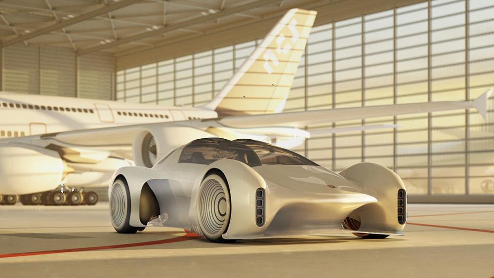 L'auto elettrica Porsche Project 411 Concept ci porta nel futuro