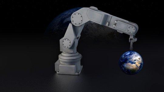 El Robot Volkswagen que carga los vehículos eléctricos
