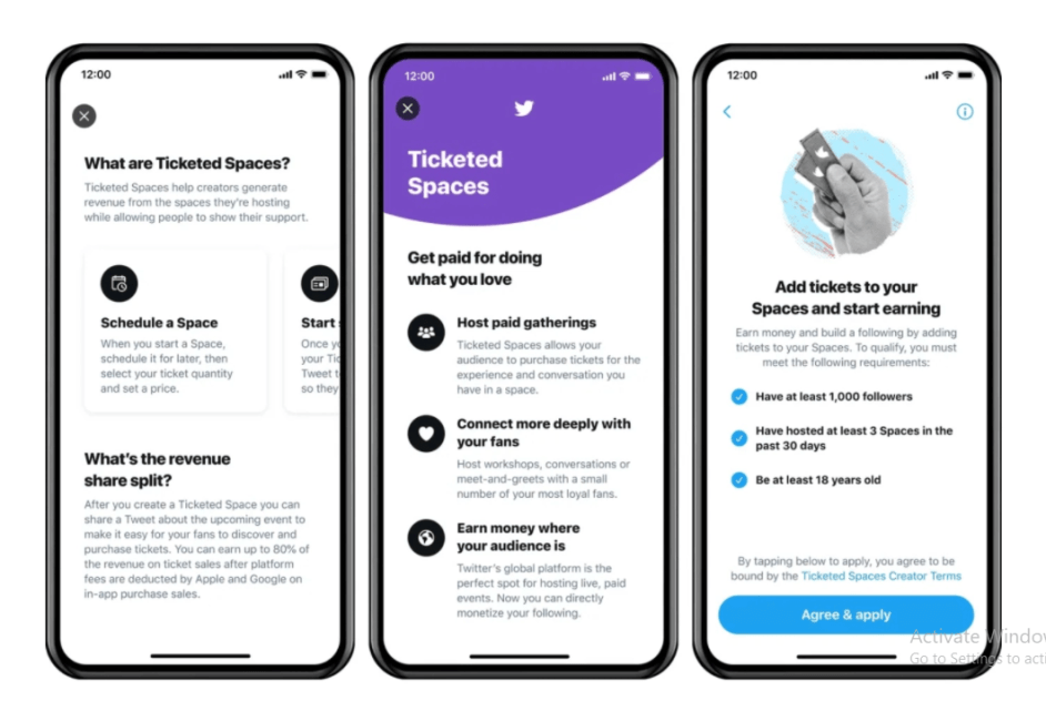 Twitter rolls out paid Ticketed Spaces for some iOS users