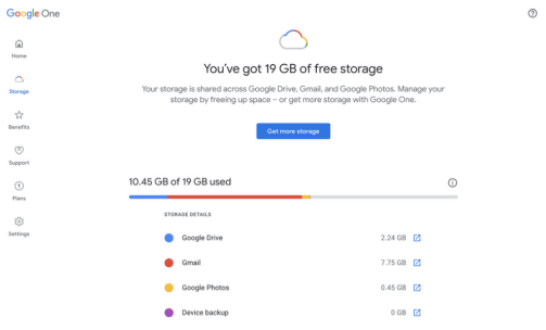How do you increase storage space in Google Drive