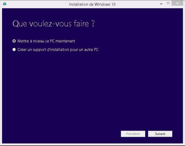 Windows 10 - Que voulez vous faire