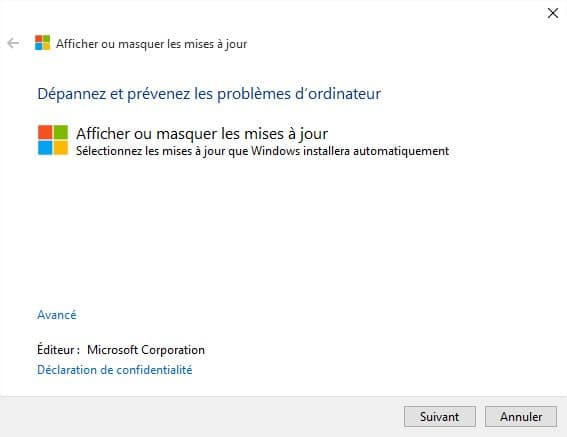 Windows10 - utilitaire