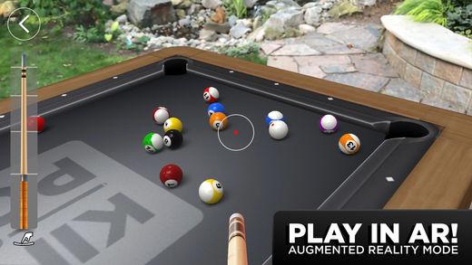 Kings of Pool - أفضل 10 تطبيقات وألعاب الواقع المعزز للآيفون والآيباد