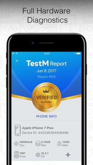 1 12 - تطبيق TestM يعطيك تقرير عن أعطال وعيوب هاتفك أو الهاتف المستعمل الذي ترغب بشراءه