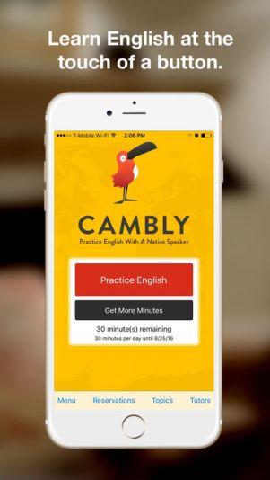 1 17 - تطبيق كامبلي Cambly لتعلم اللغة الإنجليزية بكل سهولة بالتحدث مع مدرسين متخصصين
