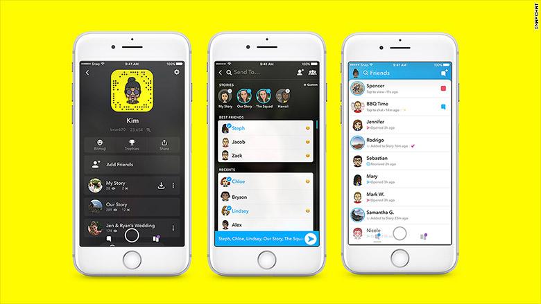 171129103913 snapchat redesign 780x439 - تعرف على مزايا و تصميم سناب شات الجديد بعد أكبر تحديث له عبر تاريخه