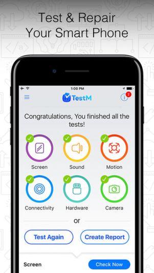 2 10 - تطبيق TestM يعطيك تقرير عن أعطال وعيوب هاتفك أو الهاتف المستعمل الذي ترغب بشراءه