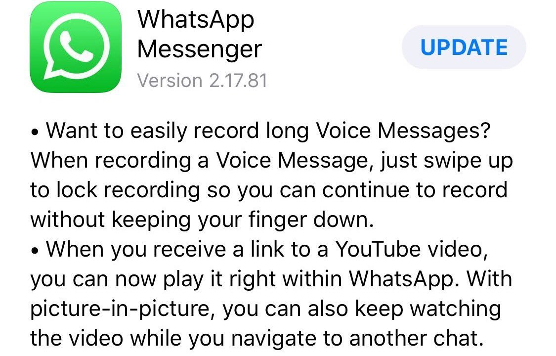 DPs8GlBXkAAcLCz - Get to know new features of latest WhatsApp update for iOS devices