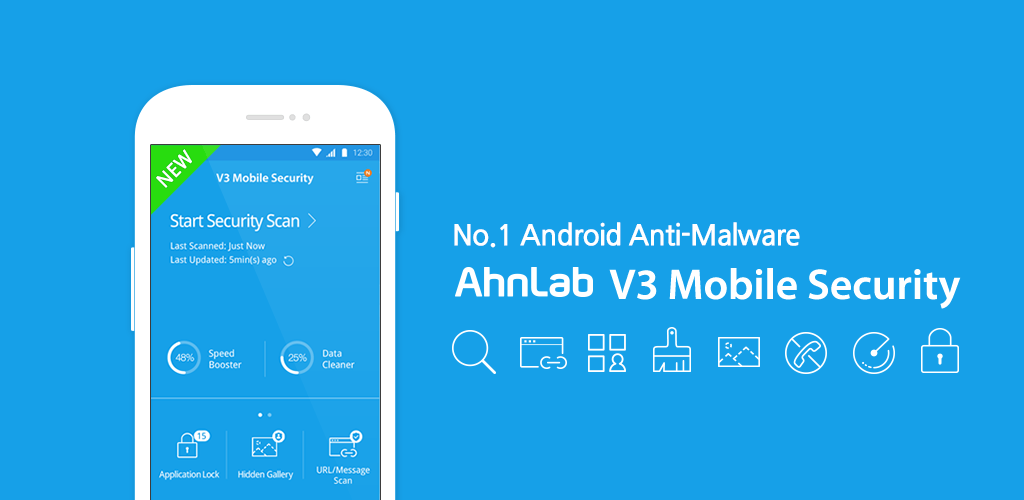 """1 2 - تطبيق V3 Mobile Security """"الأفضل لأجهزة أندرويد"""" يوفر حماية كاملة ضد الفيروسات والمتطفلين"""