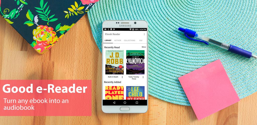 Goodereader app promo image - تطبيق Audiobook Reader يتيح تحويل الكتب الإلكترونية إلي كتب مسموعة