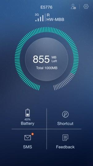 3 - تطبيق Huawei HiLink للتحكم في المودم الخاص بك، يعمل على أجهزة الآيفون والأندرويد