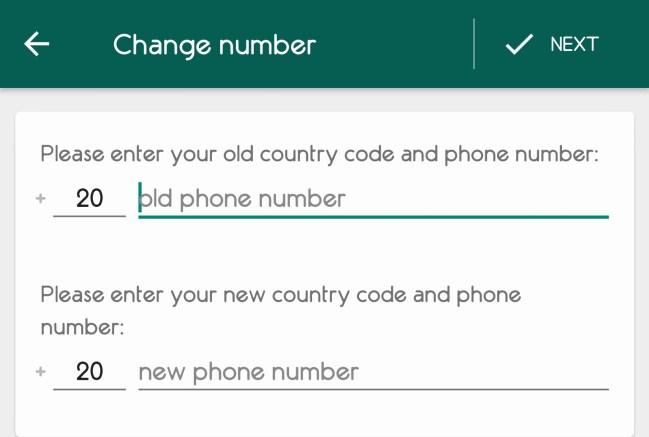 Change Number 3 - خطوات تغيير رقمك في واتساب وجوالك دون فقدان المحادثات والصور