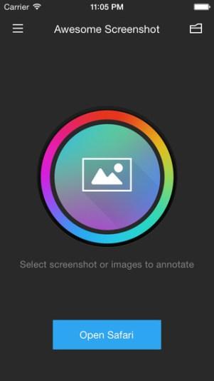 1 - تطبيق Awesome Screenshot for Safari لتصوير صفحات الانترنت بشكل كامل
