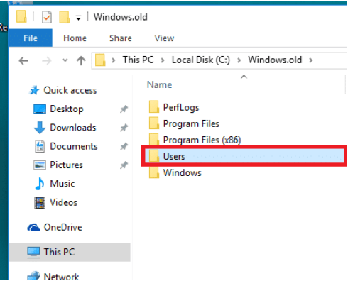 Screenshot 7 1 - طريقة استعادة الملفات المحذوفة بعد تثبيت التحديث الجديد لنظام ويندوز 10