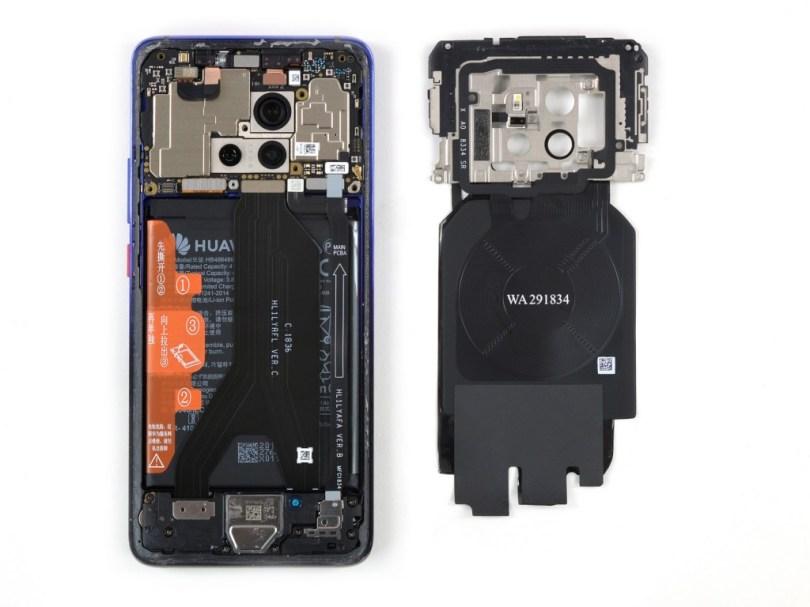 6 3 - شاهد تفكيك هاتف هواوي الرائد Huawei Mate 20 Pro وتعرف على مكوناته الداخلية