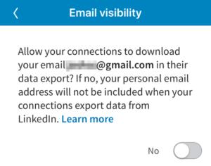 LinkedIn Email Export Privacy 300x236 - شبكة لينكد إن LinkedIn تقرر تغيير سياسة الخصوصية لديها وتمنع هذا الأمر