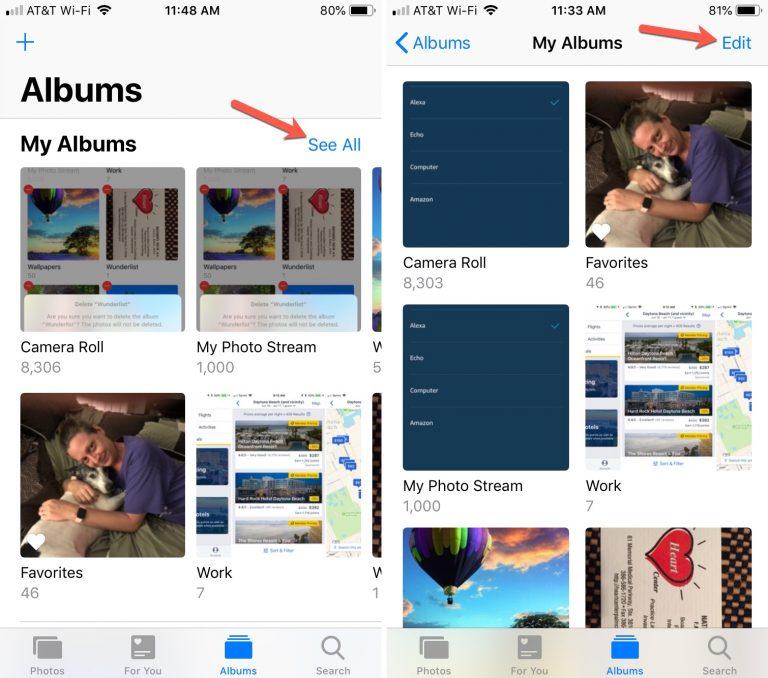 1 - بالصور.. تعرف على كيفية حذف ألبومات الصور على أجهزة آبل، آيفون وآيباد