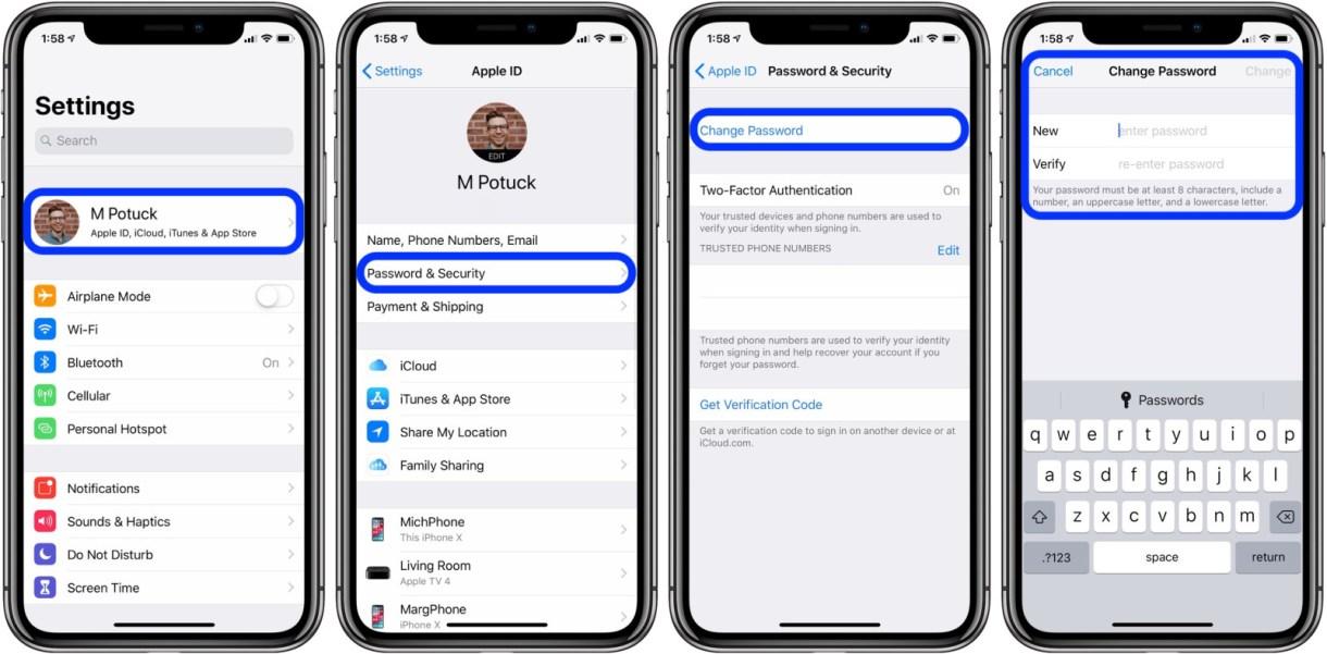 صصص - بالصور.. تعرف على كيفية تغيير كلمة مرور حساب Apple ID على آيفون وآيباد