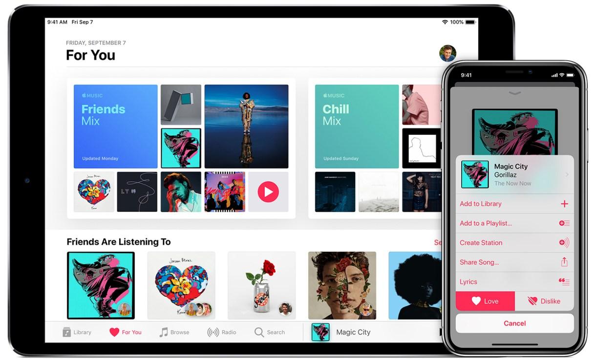 iphone x ipad pro personalize music hero - تعرف على كيفية إنشاء محطة إذاعية في آبل ميوزك على آيفون وآيباد وحواسب ماك