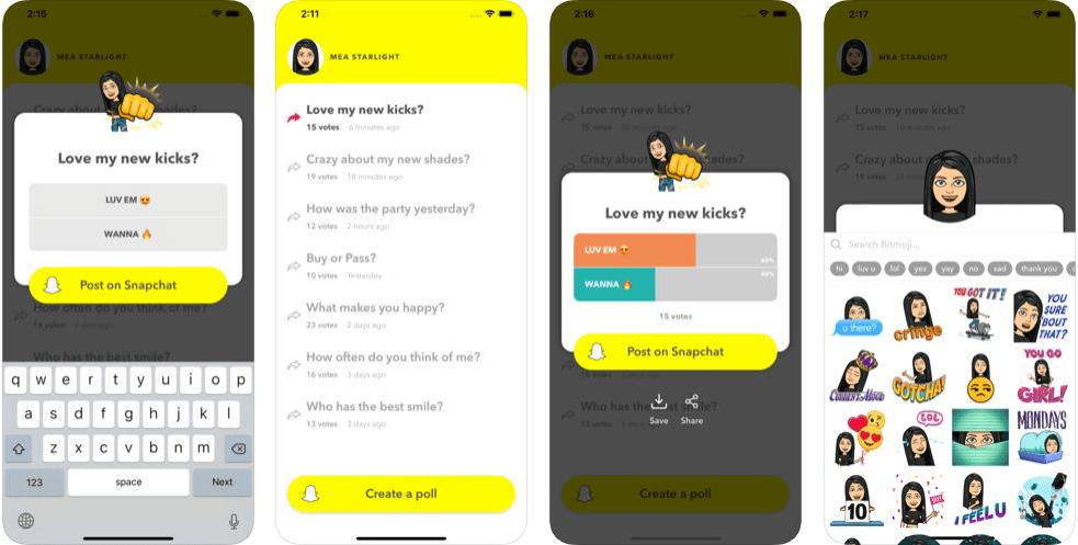 11 5 - تطبيق LMK: Anonymous Polls لوضع أي تصويت بالسناب شات بربطه بحسابك