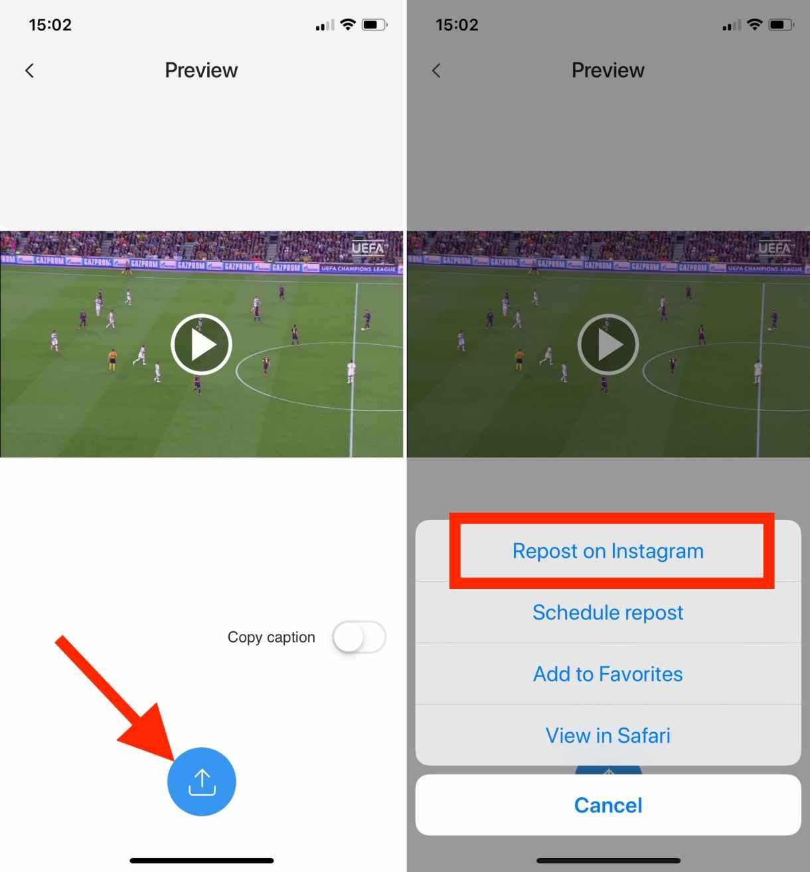 3 1 - تطبيق Regrammer لتنزيل مقاطع فيديو IGTV من تطبيق انستجرام على آيفون (شرح)