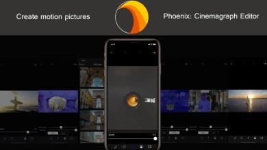 صورة تطبيق Phoenix لتحرير الفيديو وجعل بعض أجزاء المشهد متحركة والأخرى ثابتة