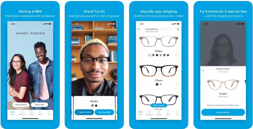2019 10 18 06 44 46 Window - تطبيق Warby Parker لتجربة النظارات الطبية والشمسية قبل شرائها