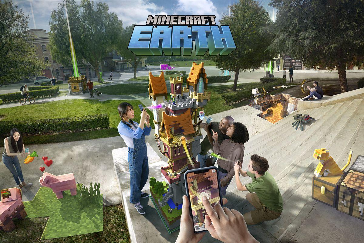 Minecraft Earth1 - إطلاق لعبة Minecraft Earth لجوالات أندرويد وآيفون في هذا الموعد