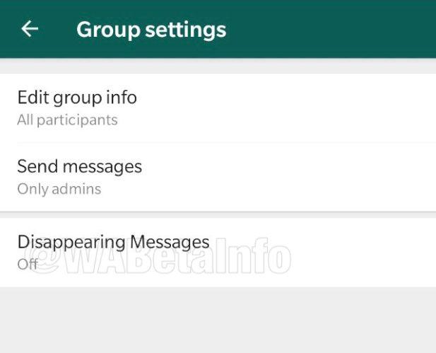 whatsapp disappearing messages wabetainfo 1 1 - تطبيق واتساب قد يحصل على ميزة تدمير الرسائل شبيهة ميزة سنابشات