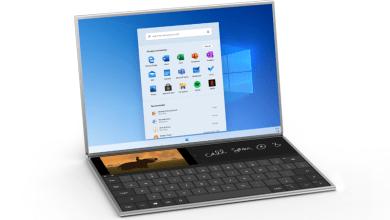 صورة تعرف على نظام Windows 10X المخصص لتشغيل الكمبيوترات المحمولة بشاشة مزدوجة