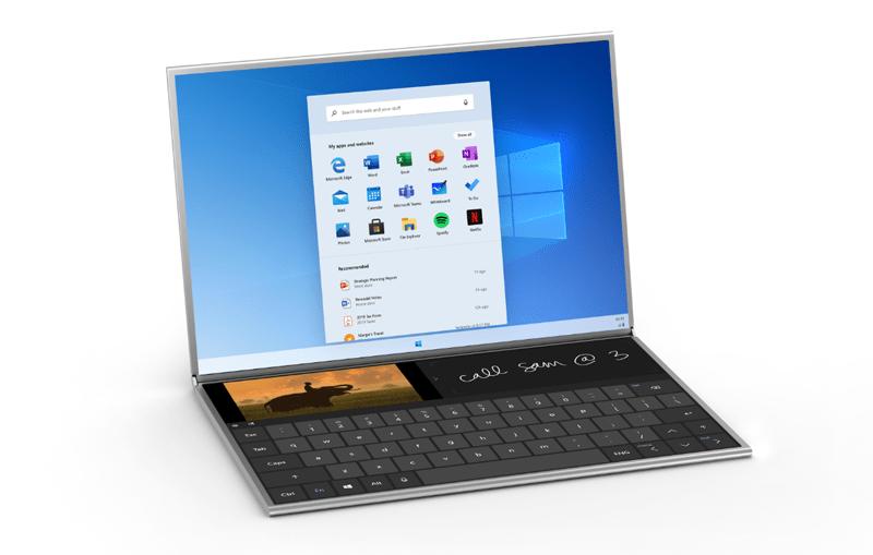 windows 10x 2 - تعرف على نظام Windows 10X المخصص لتشغيل الكمبيوترات المحمولة بشاشة مزدوجة