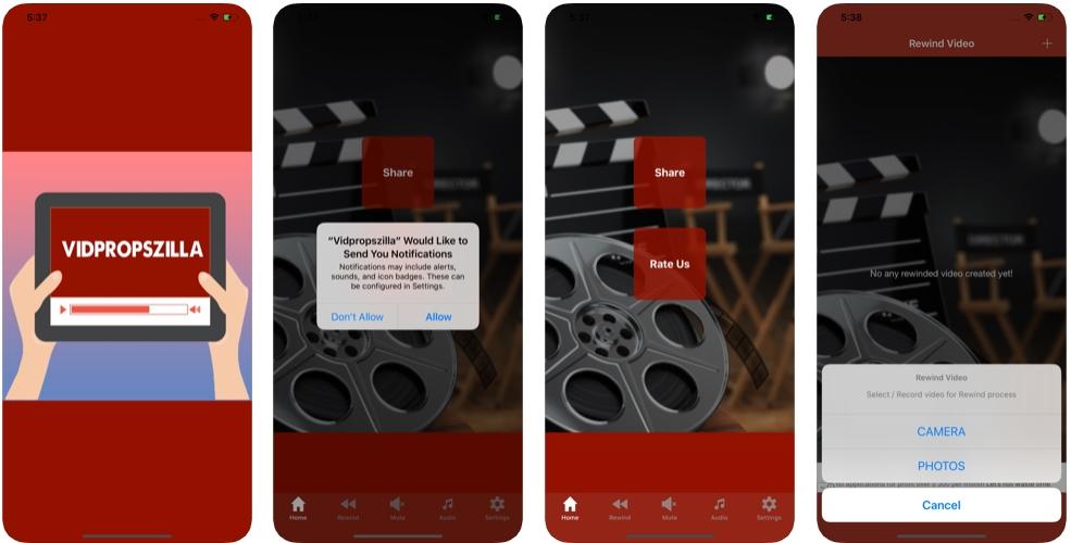 2019 11 19 01 07 04 Vidpropszilla on the App Store - محرر الفيديو Vidpropszilla يقدم مميزات استخراج الصوت أو كتمه وعكس الفيديو للجوال