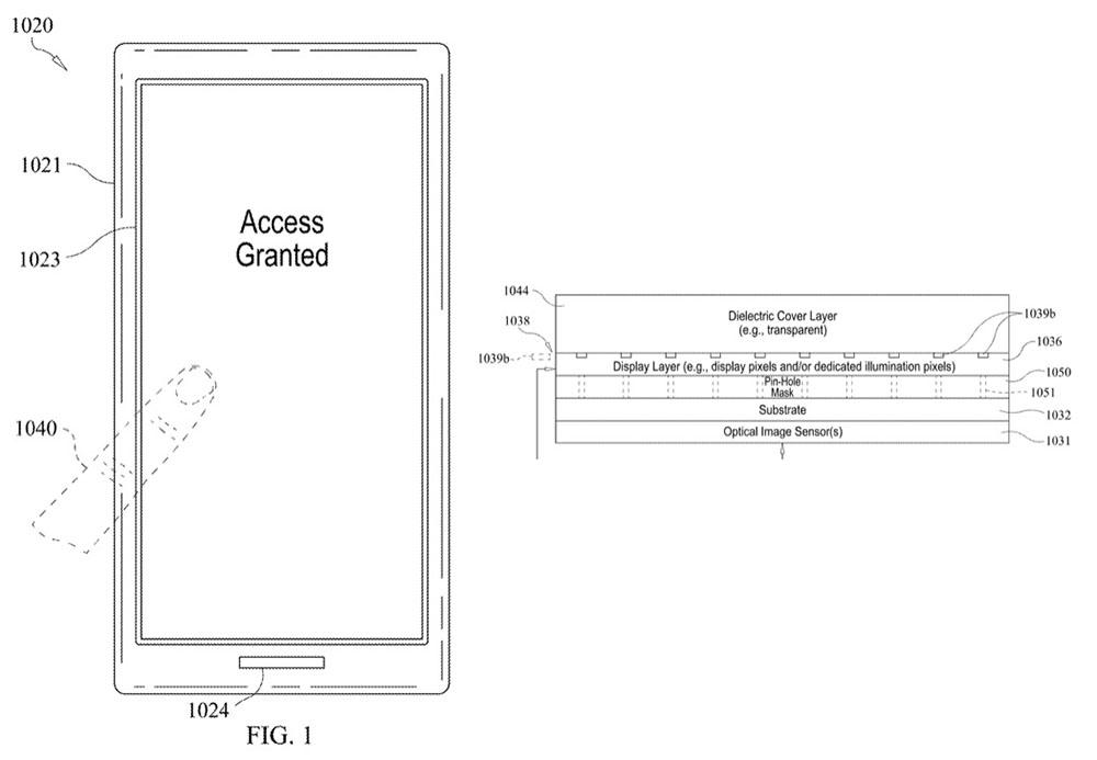 Touch ID تحت الشاشة - آبل تنجح في تسجيل براءة اختراع البصمة تحت الشاشة قد نراها في آيفونات المستقبل
