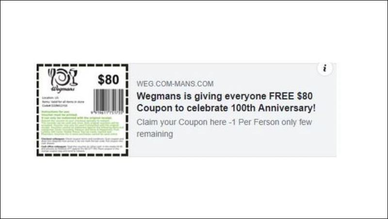 Fake Gift Cards - 6 خدع احتيالية خطيرة يجب الحذر منها على فيسبوك